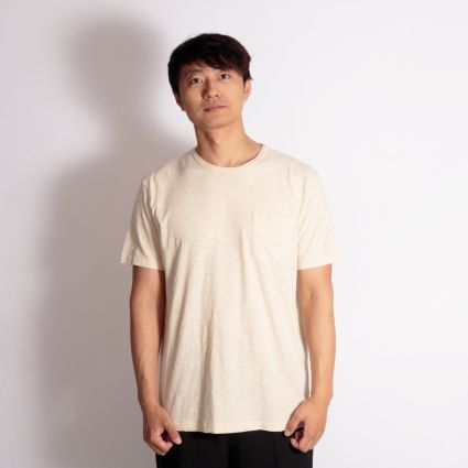 YMC Wild Ones Pocket T-Shirt Cream