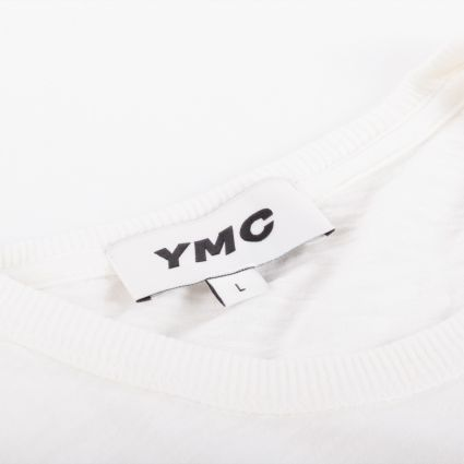 YMC Wild Ones Pocket T-Shirt Ecru