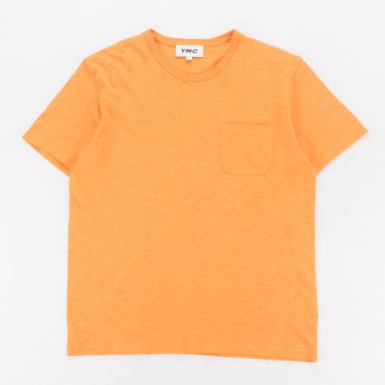 YMC Wild Ones Pocket T-Shirt Yellow1