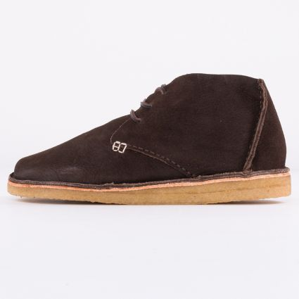 Yogi Glenn Nubuck Crepe Boot Dark Brown1