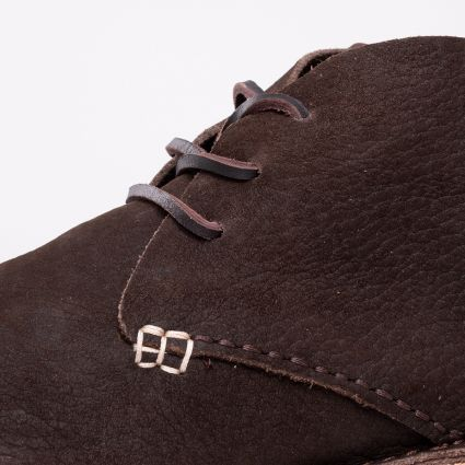 Yogi Glenn Nubuck Crepe Boot Dark Brown