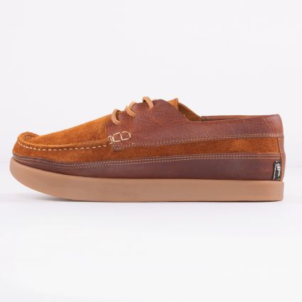 Yogi Logan Tumbled/Reverse Leather Chestnut Brown1