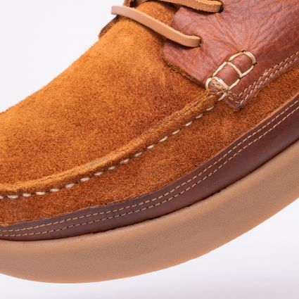 Yogi Logan Tumbled/Reverse Leather Chestnut Brown