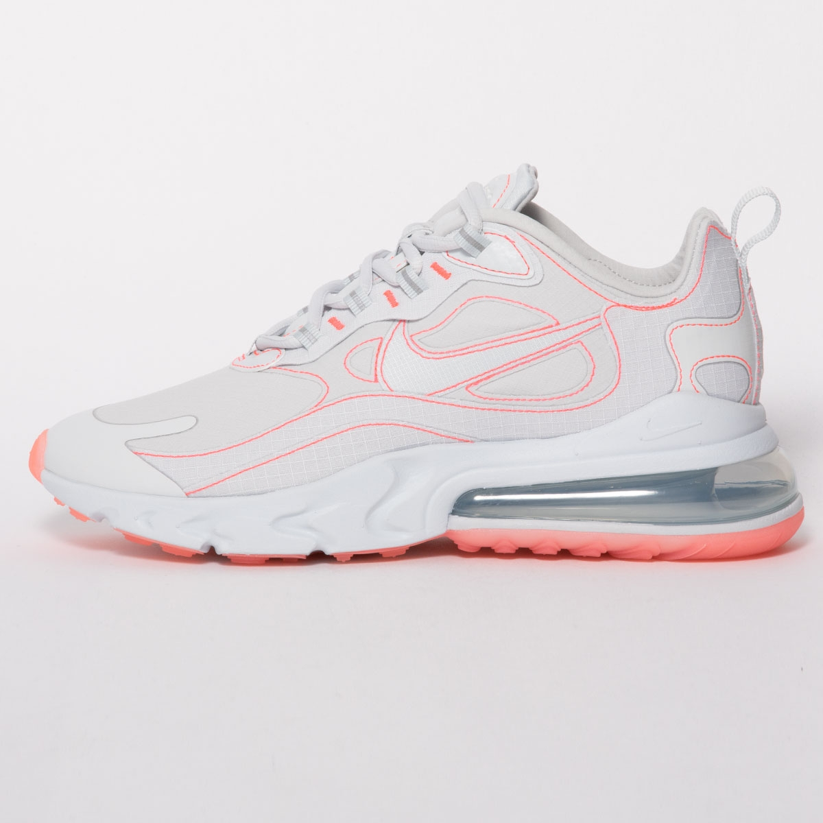 air max 270 react trainers white flash crimson