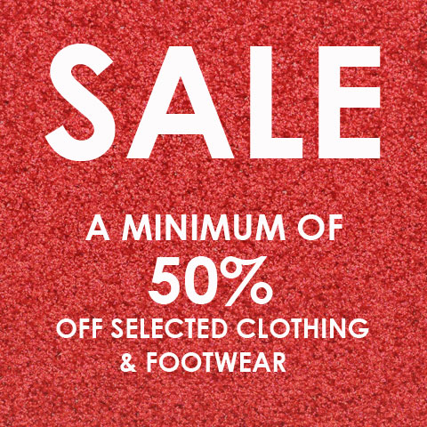 Final SALE Reductions: Minimum of 50% OFF While Stocks Last