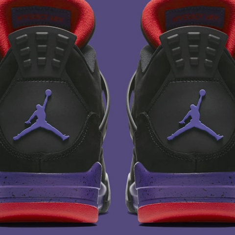 Nike Air Jordan IV Retro NRG 'Raptors' Black/University Red-Court Purple AQ3816-056 - Releasing 08:00 (BST) 18/08/18