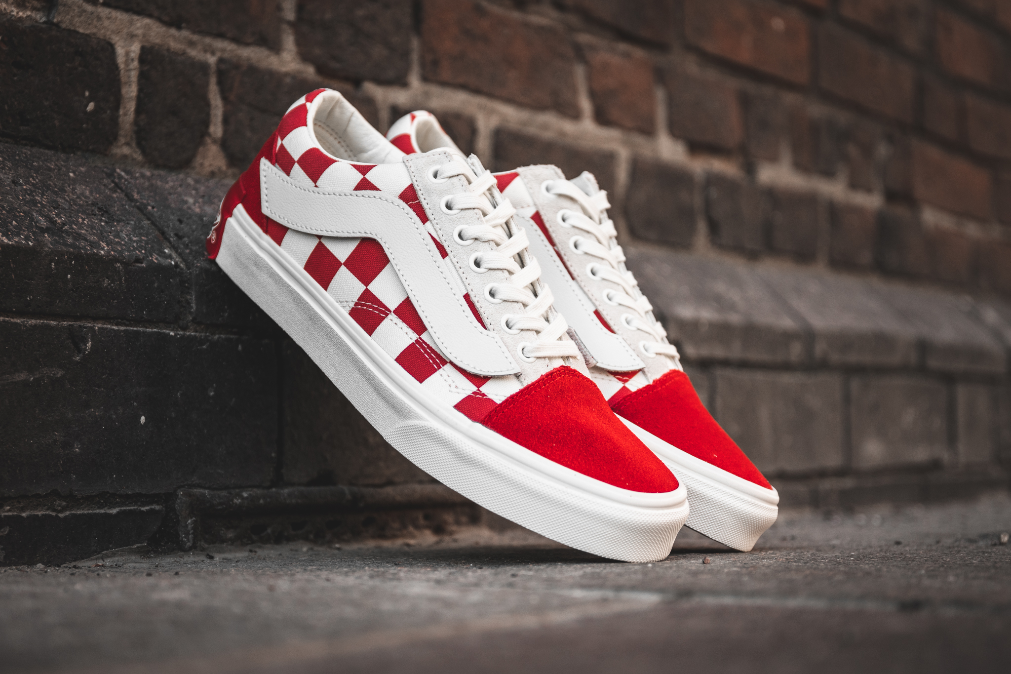 VANS X PURLICUE MARSHMALLOW/RACING RED