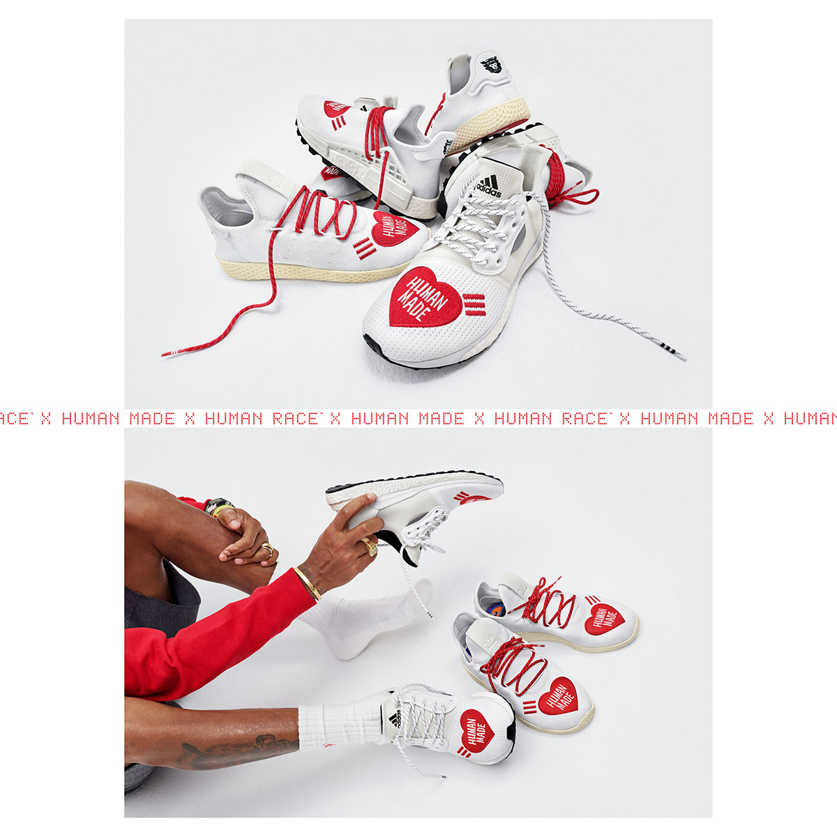 Adidas x Human Made by Pharrell Williams and Nigo - Releasing 23:00 (GMT) 04/10/19