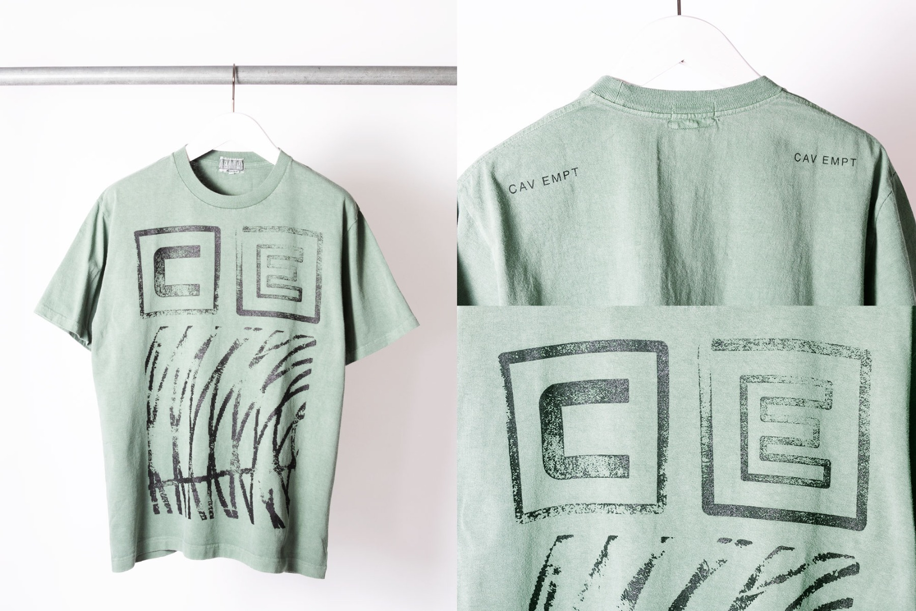 cav empt over dyed stamp t-shirt