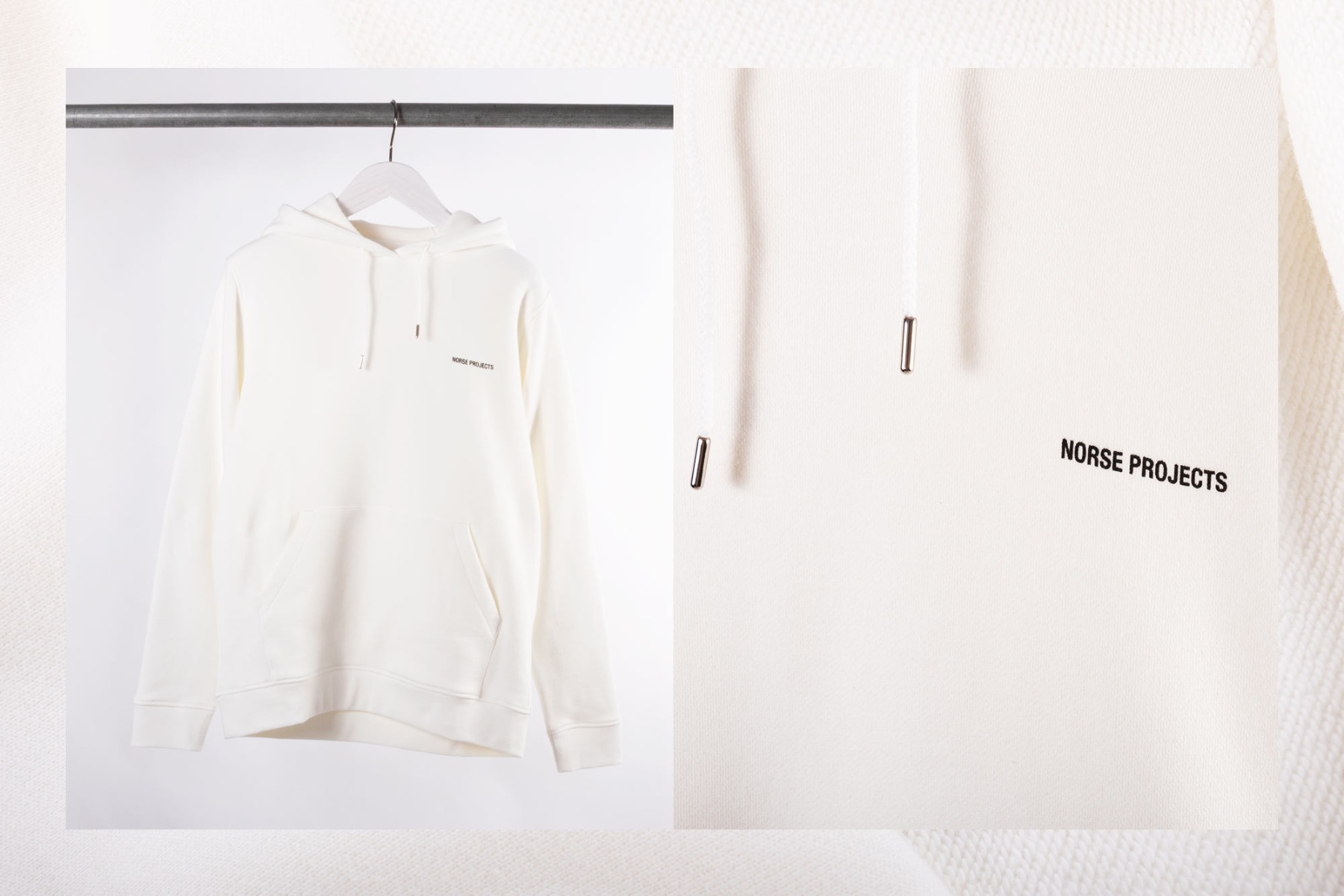 norse projects vagn hoodie kit white