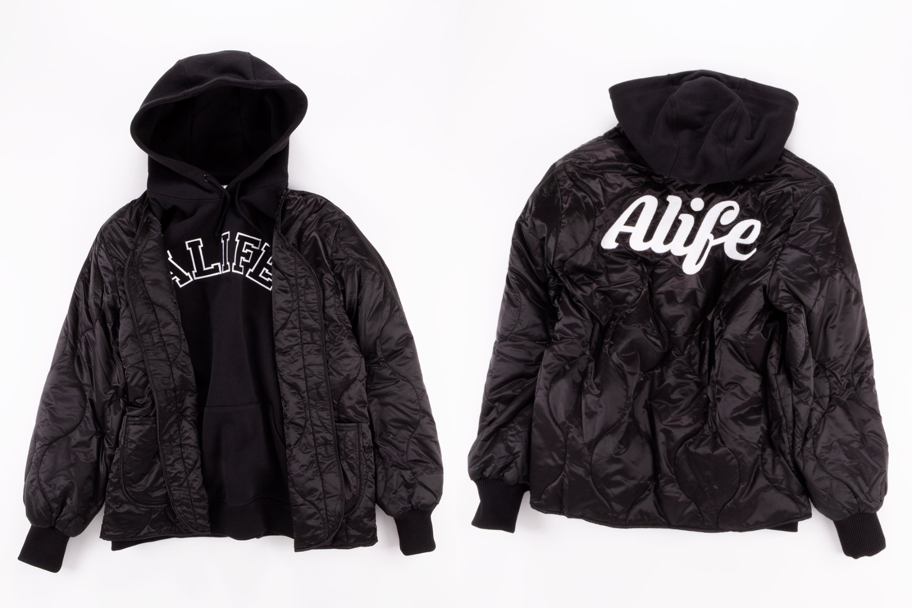 Alife Military LAyer JAcket in Black at Wellgosh