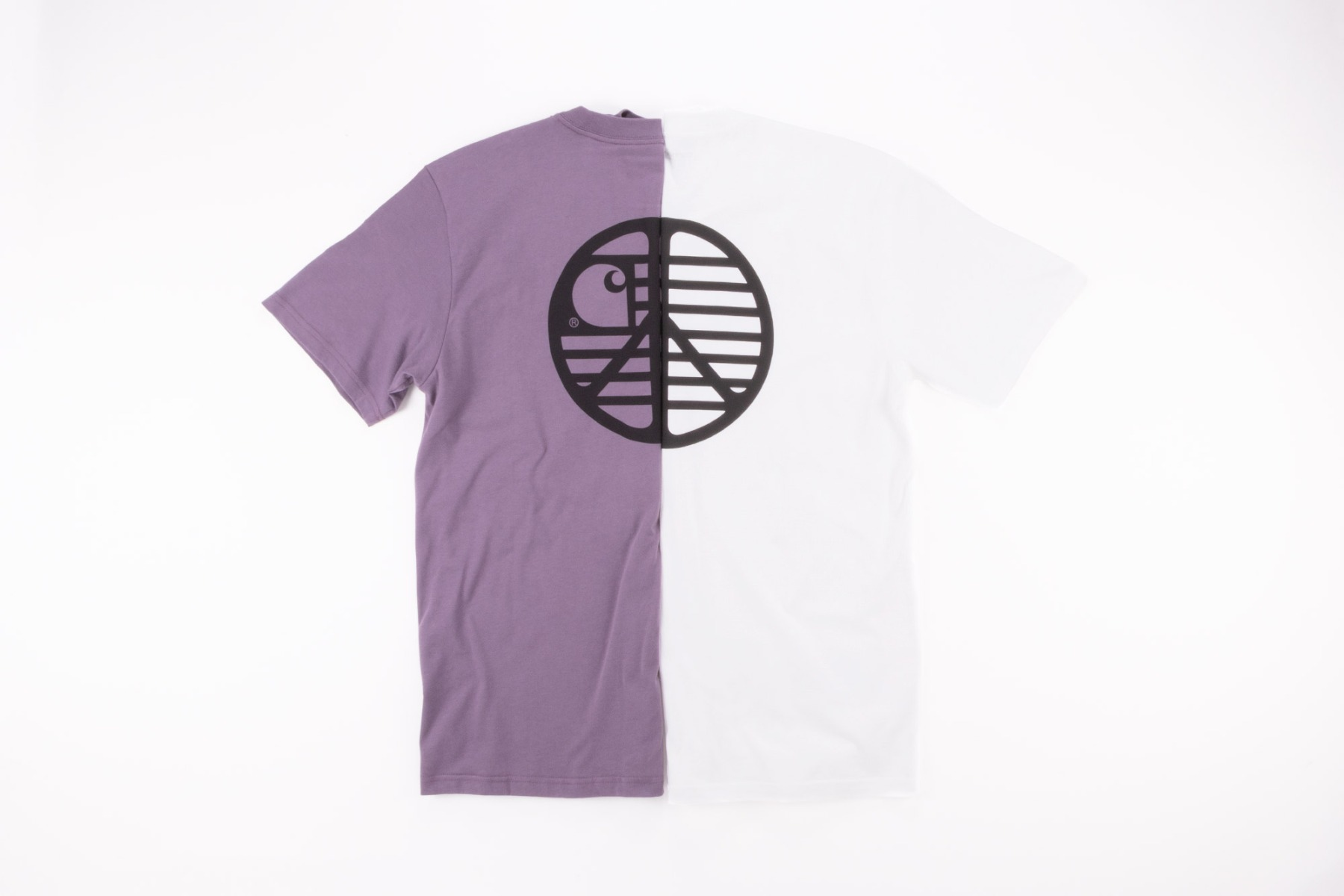 carhartt wip peace state graphic t-shirt in white and provence available at wellgosh